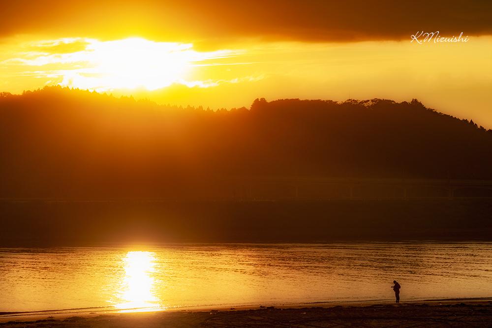 野蒜築港跡からの夕景