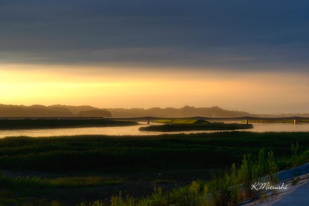 野蒜築港跡からの夕景2